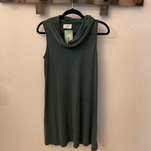 Green Cowl Neck Shift Dress NWT